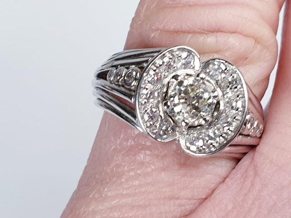 1940's Diamond Cluster Ring  DBGEMS - image 3