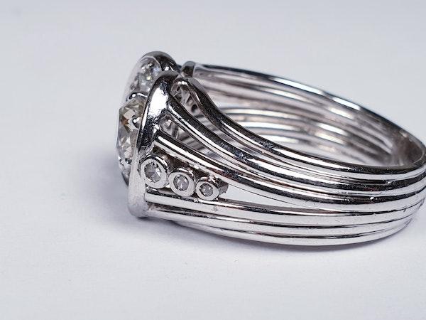 1940's Diamond Cluster Ring  DBGEMS - image 5