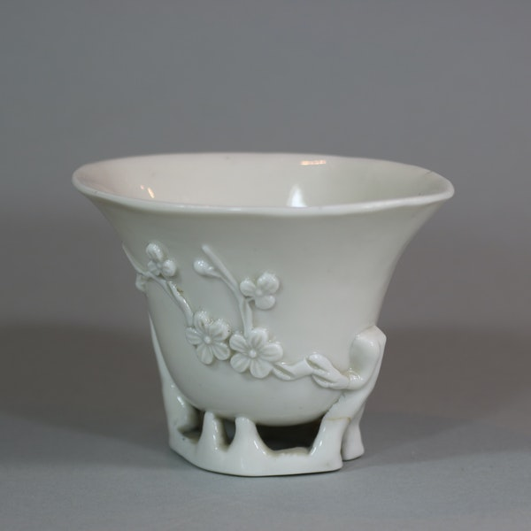 Chinese blanc de chine libation cup, Kangxi (1662-1722) - image 1