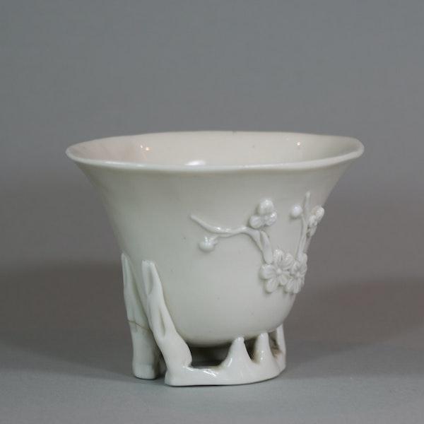 Chinese blanc de chine libation cup, Kangxi (1662-1722) - image 3