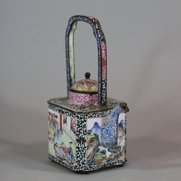 Chinese canton enamel winepot, Qianlong (1736-95) - image 4