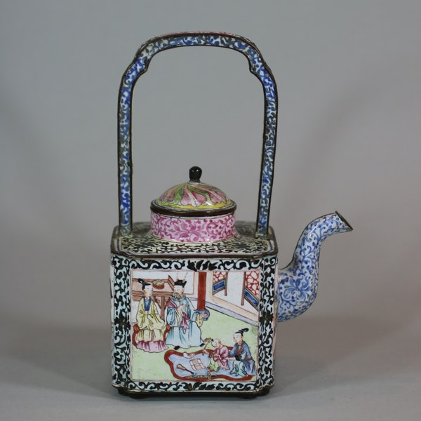 Chinese canton enamel winepot, Qianlong (1736-95) - image 3