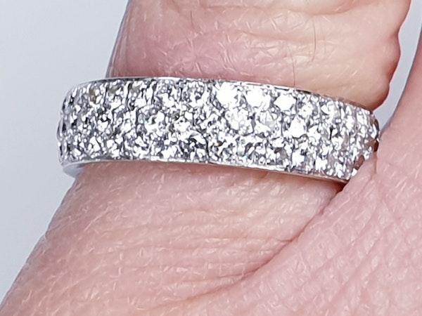 Three Row Diamond Eternity Ring  DBGEMS - image 2