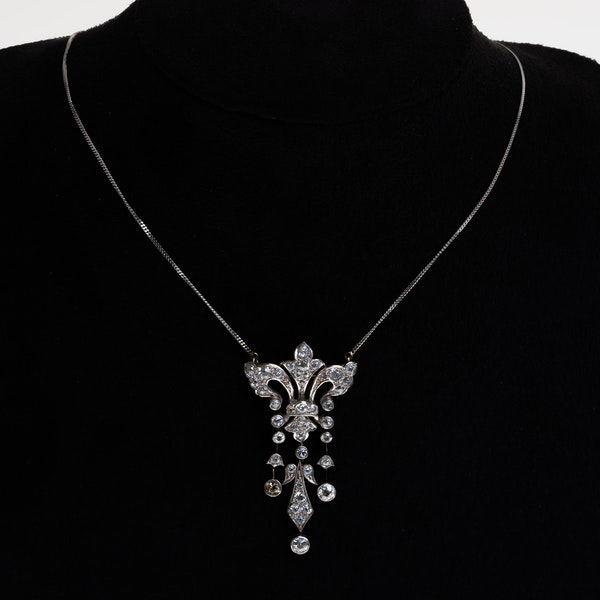 Edwardian all diamond pendant - image 1