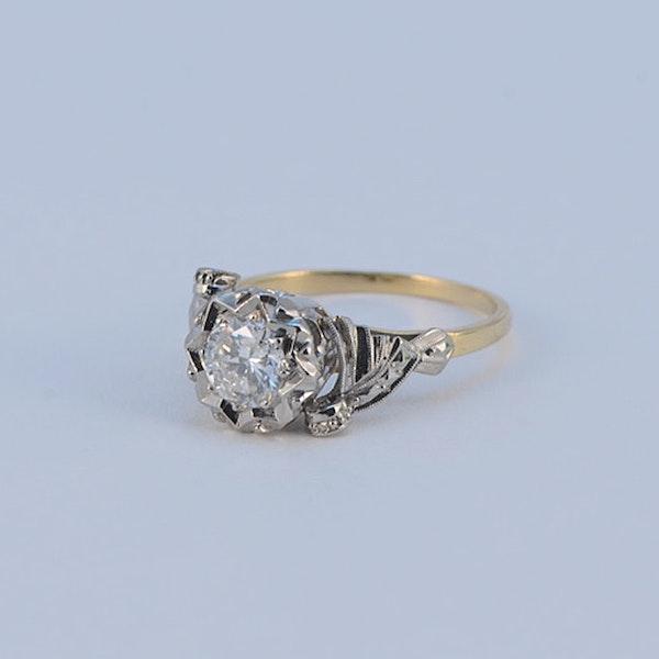 1950's, 18ct White\Yellow Gold and Diamond stone set Ring, SHAPIRO & Co since1979 - image 1