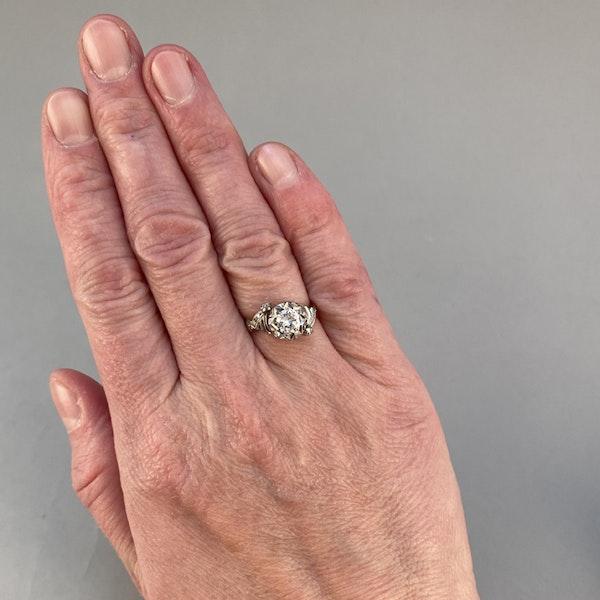 1950's, 18ct White\Yellow Gold and Diamond stone set Ring, SHAPIRO & Co since1979 - image 2