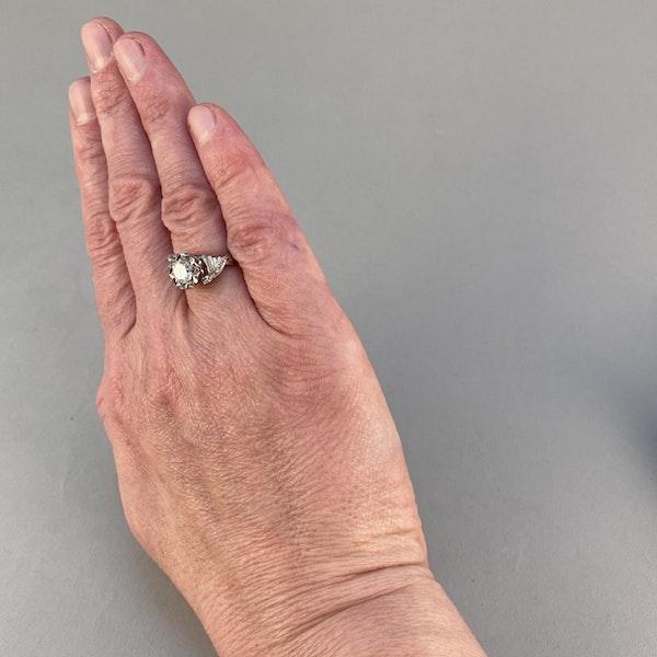 1950's, 18ct White\Yellow Gold and Diamond stone set Ring, SHAPIRO & Co since1979 - image 3