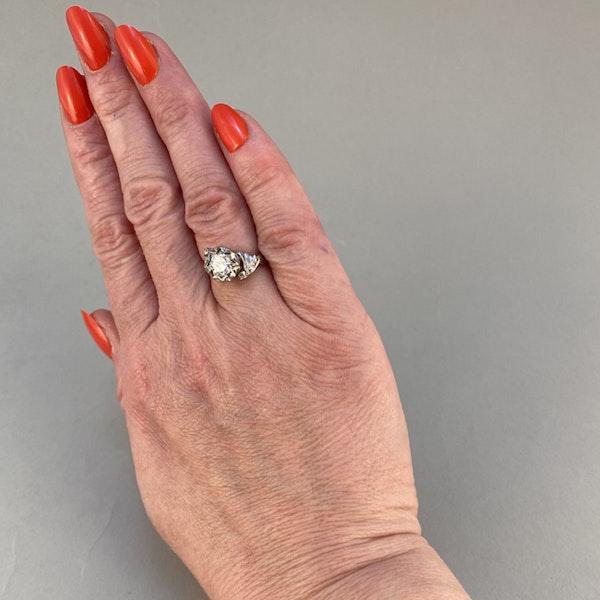 1950's, 18ct White\Yellow Gold and Diamond stone set Ring, SHAPIRO & Co since1979 - image 5