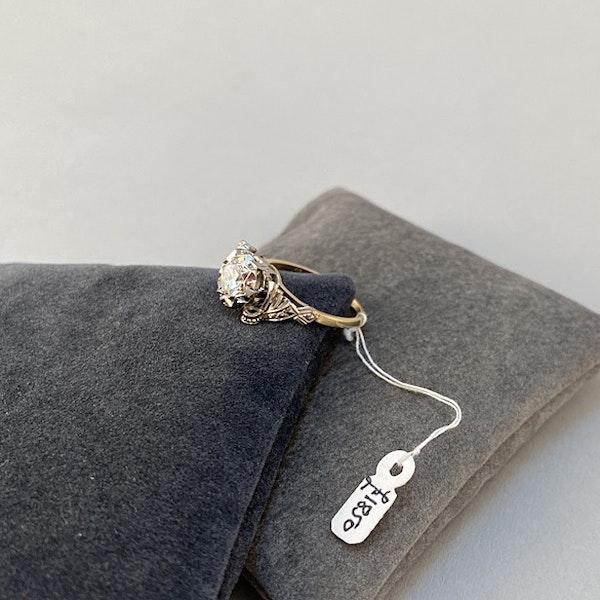 1950's, 18ct White\Yellow Gold and Diamond stone set Ring, SHAPIRO & Co since1979 - image 6
