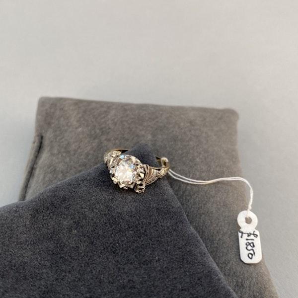 1950's, 18ct White\Yellow Gold and Diamond stone set Ring, SHAPIRO & Co since1979 - image 7