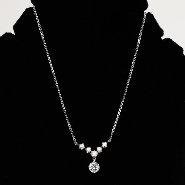 1930s Diamond necklet   in 14 ct white gold - image 1