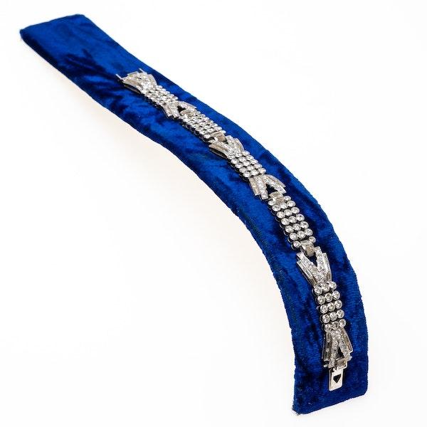 Art Deco French diamond bracelet - image 1