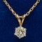 Diamond solitaire pendant on chain. Diamond 1.02 ct - image 1