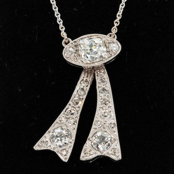 Fancy shaped old diamond pendant - image 1