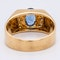 Sapphire and diamond signet type 18 ct gold ring - image 4