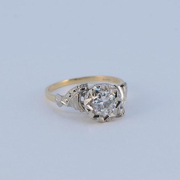 1950's, 18ct White\Yellow Gold and Diamond stone set Ring, SHAPIRO & Co since1979 - image 9