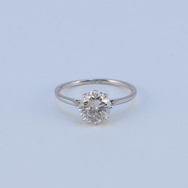 1950's, Platinum Diamond single stone Ring, SHAPIRO & Co since1979 - image 4