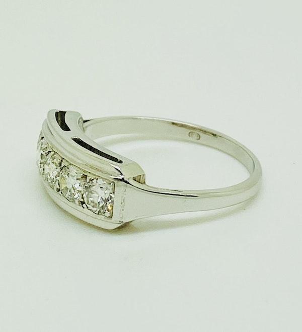Half Eternity 5-stone Diamond Ring, 18K white gold. - image 2