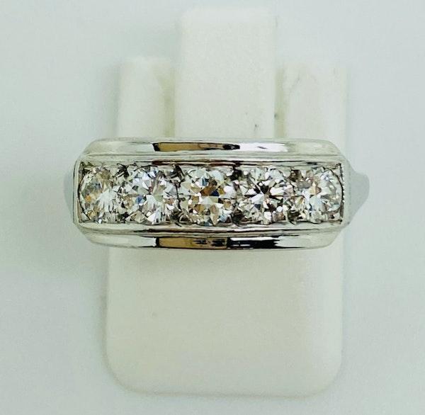 Half Eternity 5-stone Diamond Ring, 18K white gold. - image 3