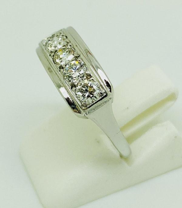 Half Eternity 5-stone Diamond Ring, 18K white gold. - image 4