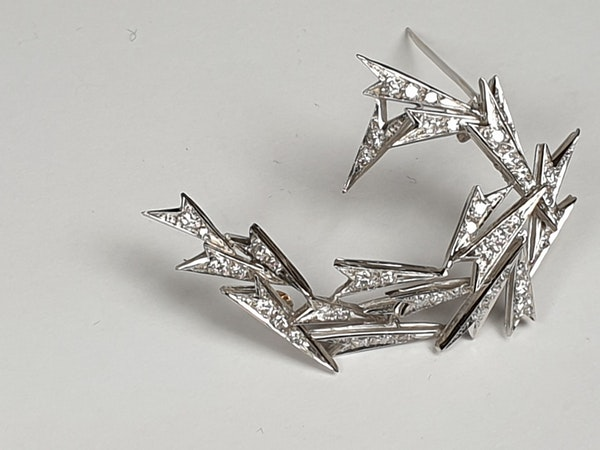 Cool 1970's Icicle Brooch  DBGEMS - image 2