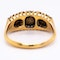 Antique 3 natural pearl and diamond points ring - image 4