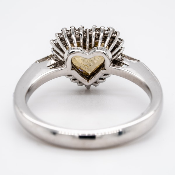 Natural fancy yellow coloured diamond heart ring with certificate - image 3