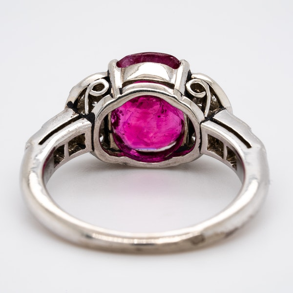 Burma ruby and diamond cluster ring with certificate - image 3