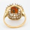 Fancy opal and diamond large antique ring - image 4