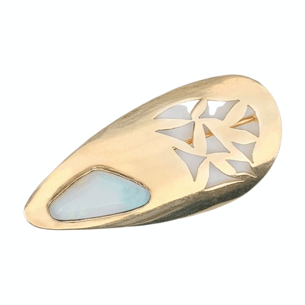 An Opal and Gold Brooch - image 1