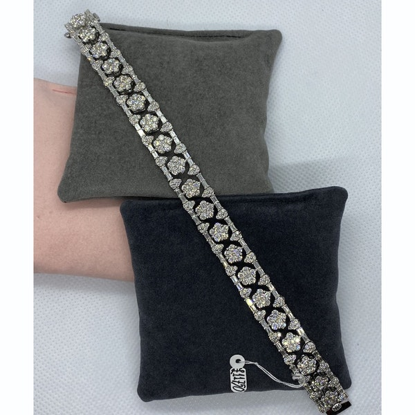 1960's, 18ct White Gold Diamond stone set Bracelet, SHAPIRO & Co since1979 - image 5