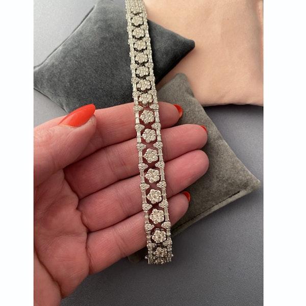 1960's, 18ct White Gold Diamond stone set Bracelet, SHAPIRO & Co since1979 - image 3
