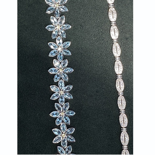 1980's, Platinum and Diamond stone set Bracelet, SHAPIRO & Co since1979 - image 9