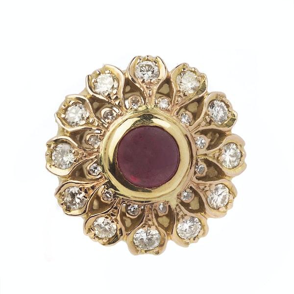 Vintage Gold, Diamond & Ruby Ring - image 1