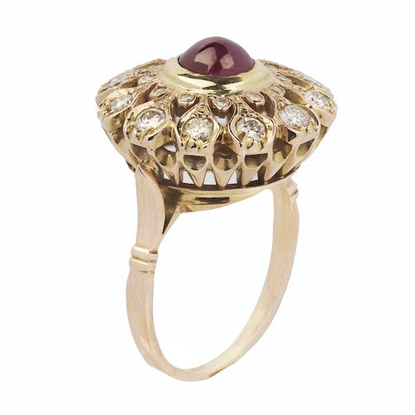 Vintage Gold, Diamond & Ruby Ring - image 2