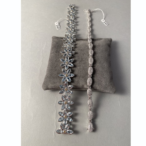 1980's, Platinum and Diamond stone set Bracelet, SHAPIRO & Co since1979 - image 10