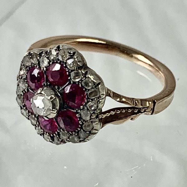 1860 ruby and diamond ring - image 3