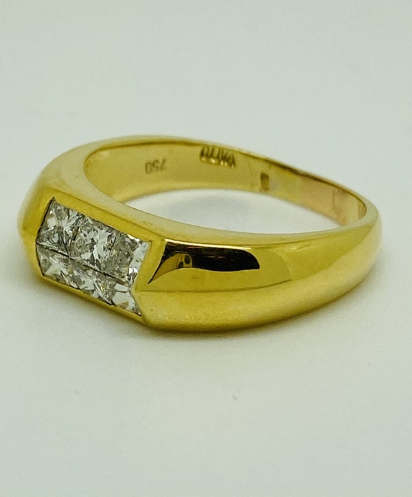 18K yellow gold 0.70ct Diamond Ring - image 1