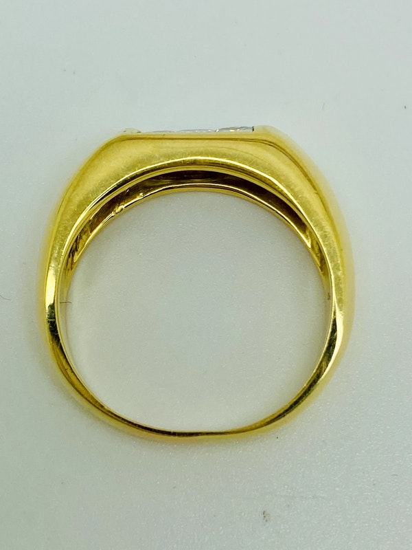 18K yellow gold 0.70ct Diamond Ring - image 4