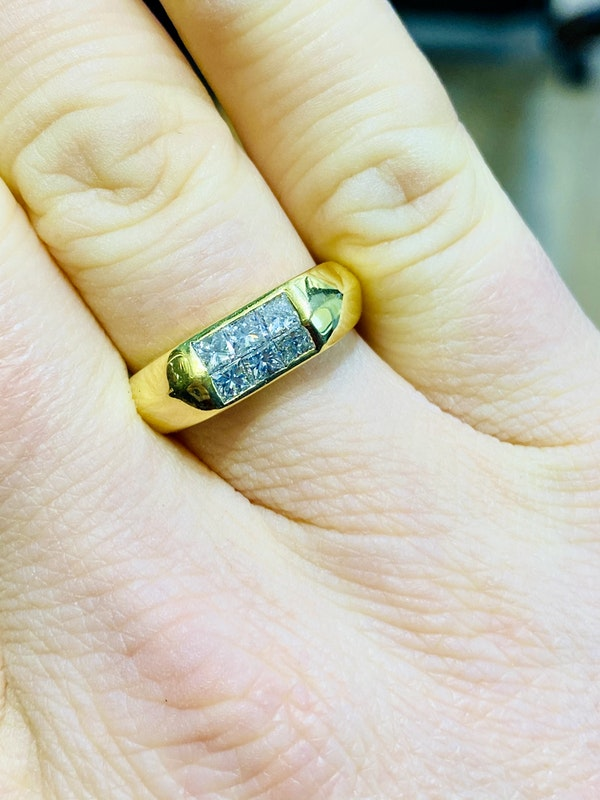 18K yellow gold 0.70ct Diamond Ring - image 5