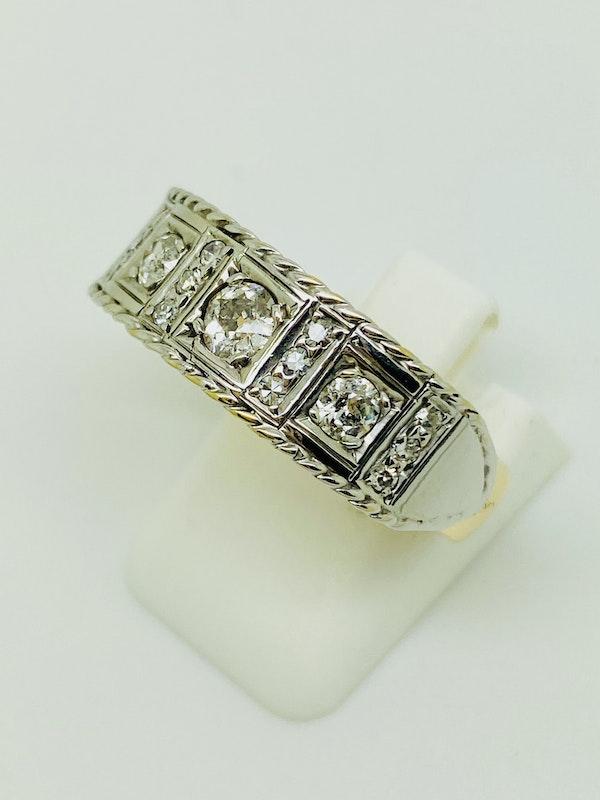 18K yellow/white gold 1.00ct Diamond Ring - image 3