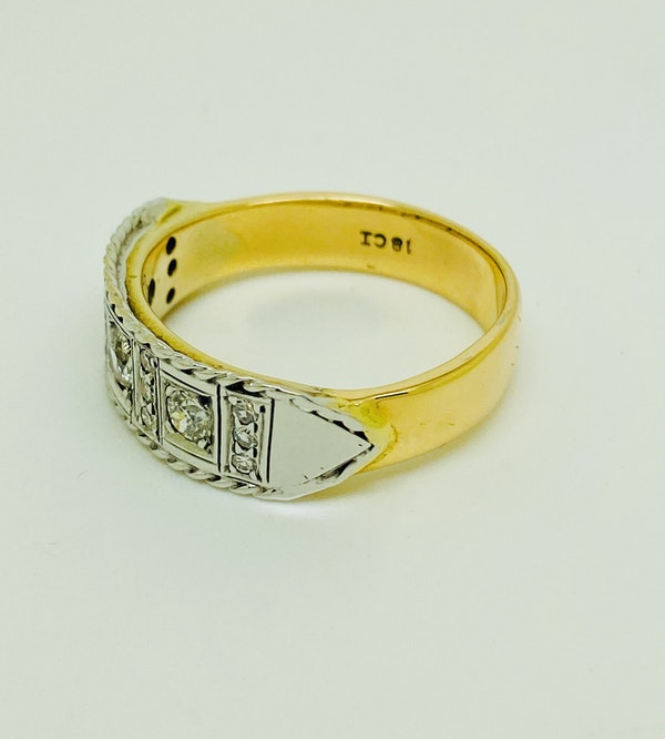 18K yellow/white gold 1.00ct Diamond Ring - image 4