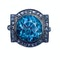 A Diamond and Blue Zircon Silver Ring - image 2