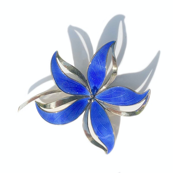 An Enamel Flower Brooch by Hroar Prydz - image 3