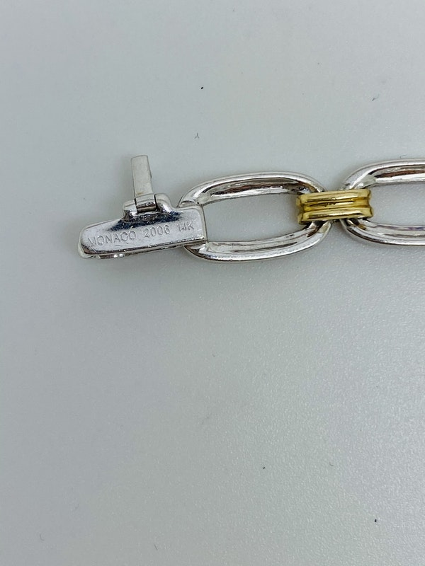 14K yellow/white gold 0.90ct Diamond Charm Bracelet. Monaco2008. - image 4