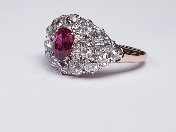 Antique ruby and old cut diamond engagement ring  DBGEMS - image 4