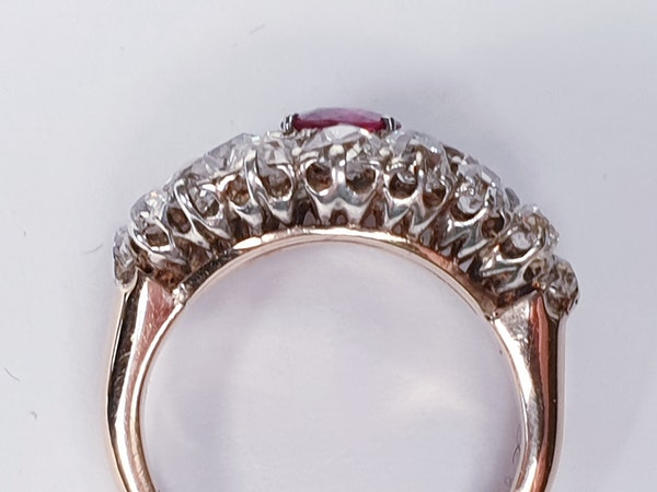 Antique ruby and old cut diamond engagement ring  DBGEMS - image 3