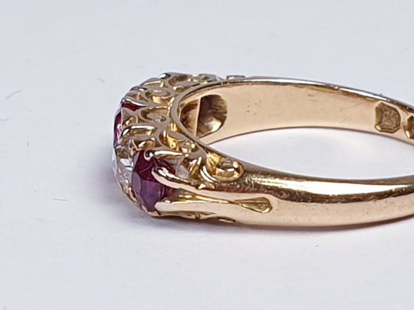 Antique Ruby and Diamond Ring  DBGEMS - image 3