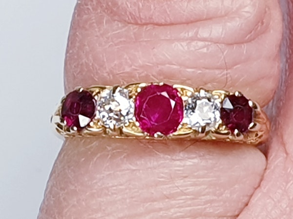 Antique Ruby and Diamond Ring  DBGEMS - image 1