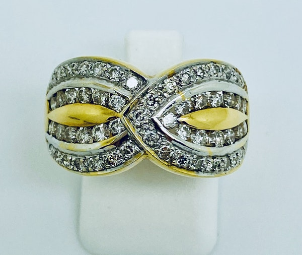 18K yellow gold 1.20ct Diamond Ring - image 1